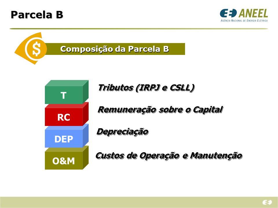 Parcela B T RC DEP O&M Tributos (IRPJ e CSLL)