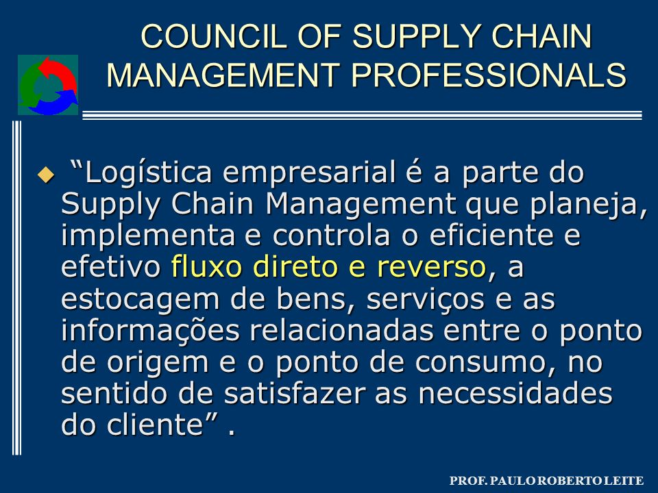 COUNCIL OF SUPPLY CHAIN MANAGEMENT PROFESSIONALS