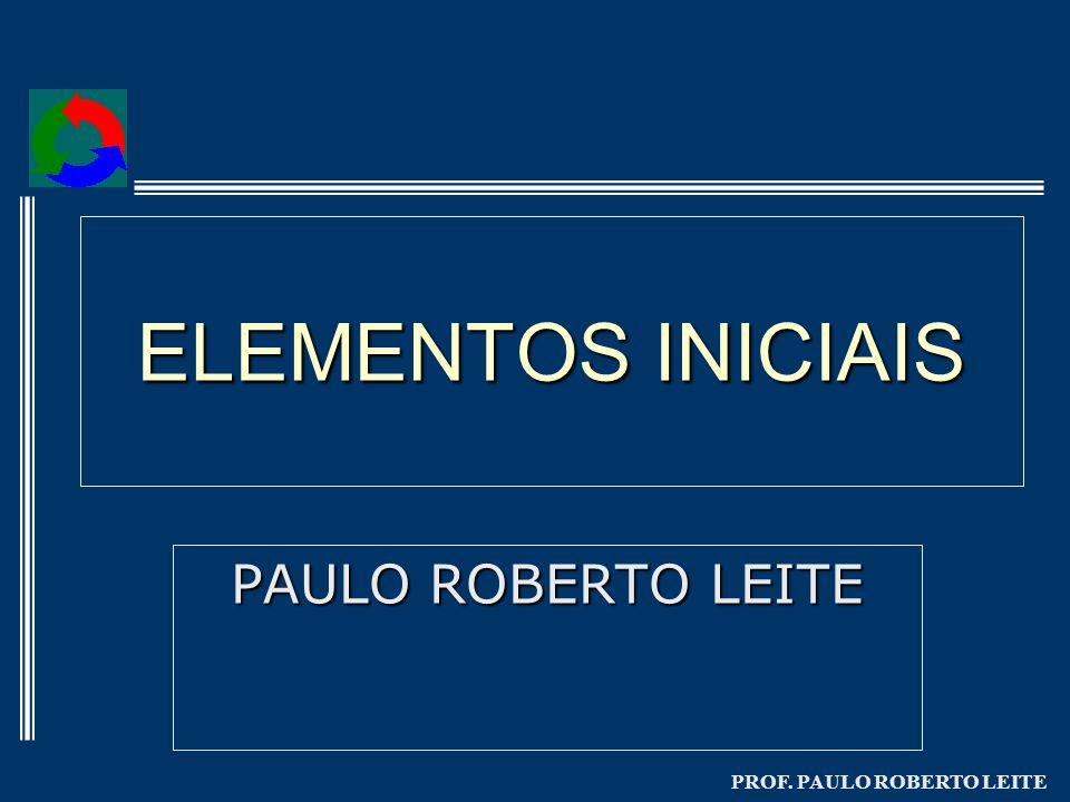 ELEMENTOS INICIAIS PAULO ROBERTO LEITE