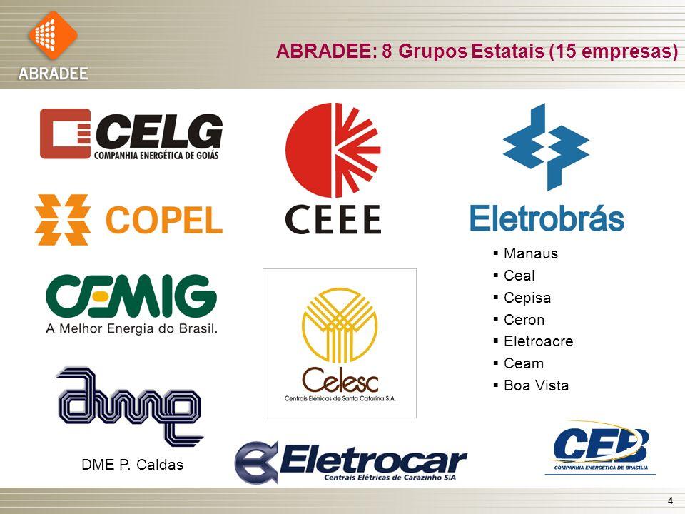 ABRADEE: 8 Grupos Estatais (15 empresas)
