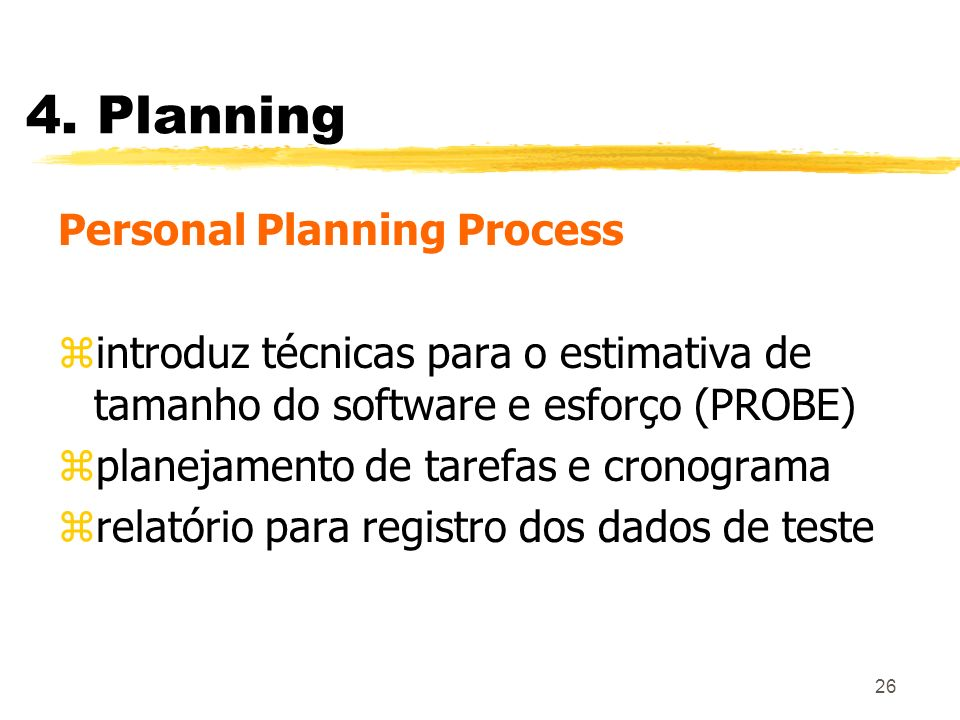 4. Planning Personal Planning Process