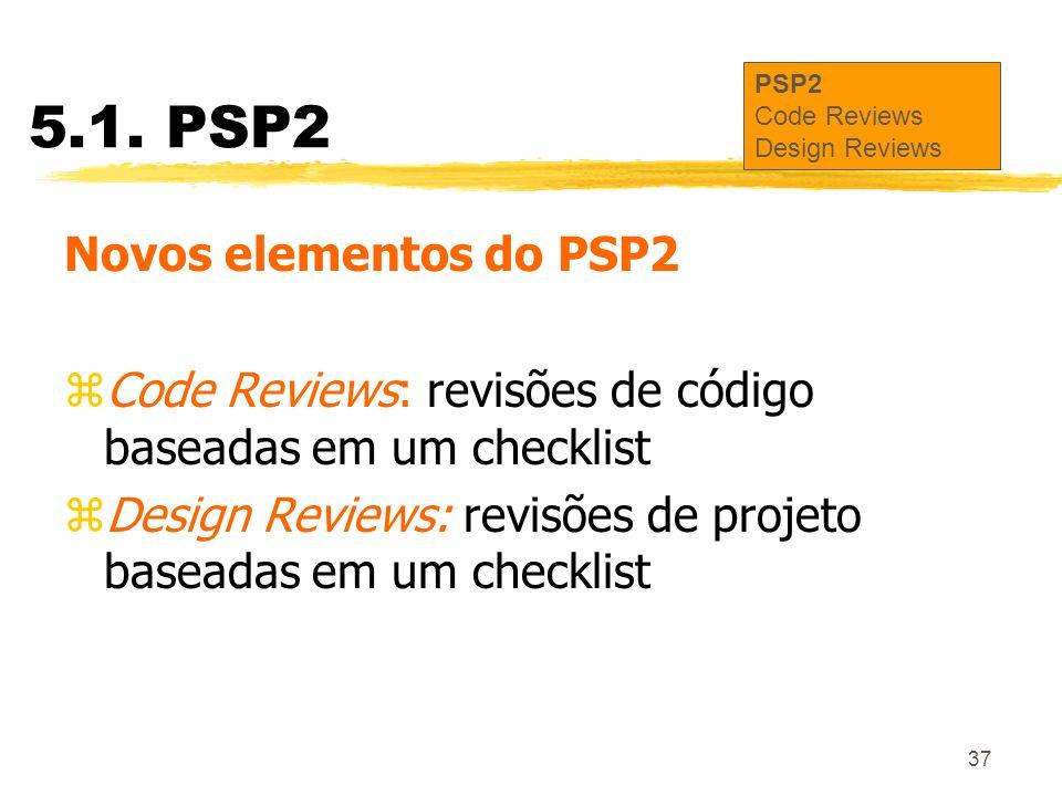 5.1. PSP2 Novos elementos do PSP2