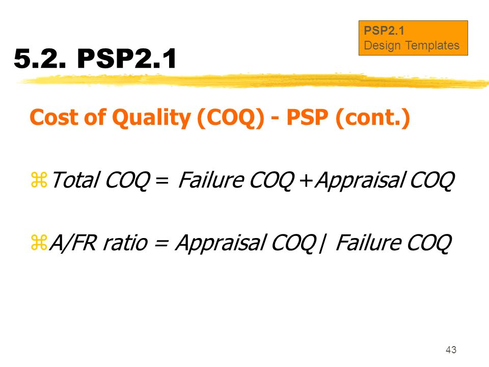 5.2. PSP2.1 Cost of Quality (COQ) - PSP (cont.)