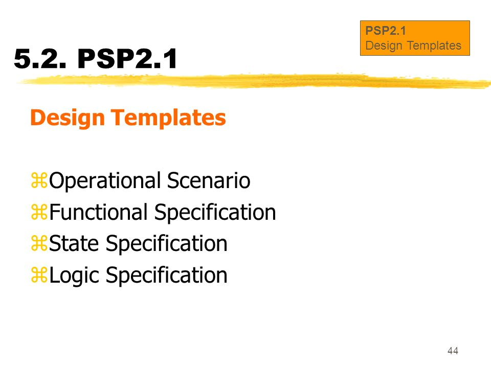 5.2. PSP2.1 Design Templates Operational Scenario