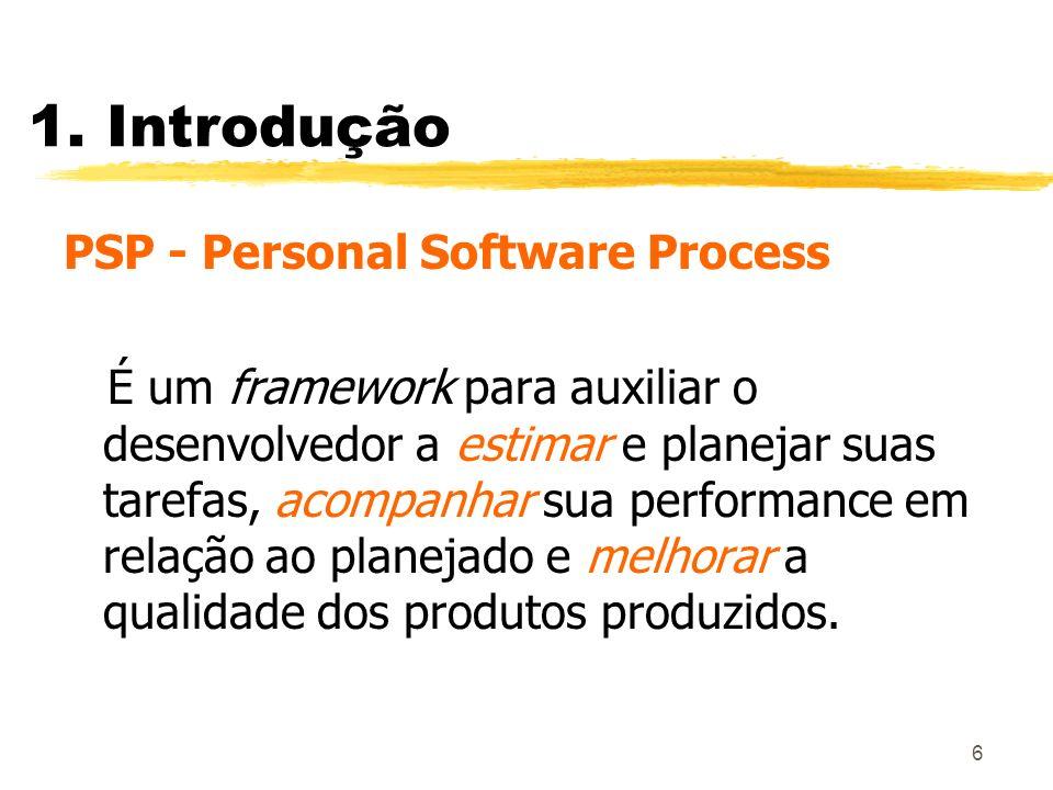1. Introdução PSP - Personal Software Process