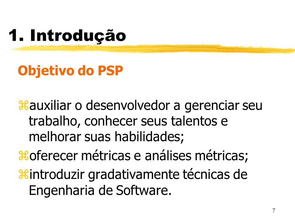 1. Introdução Objetivo do PSP