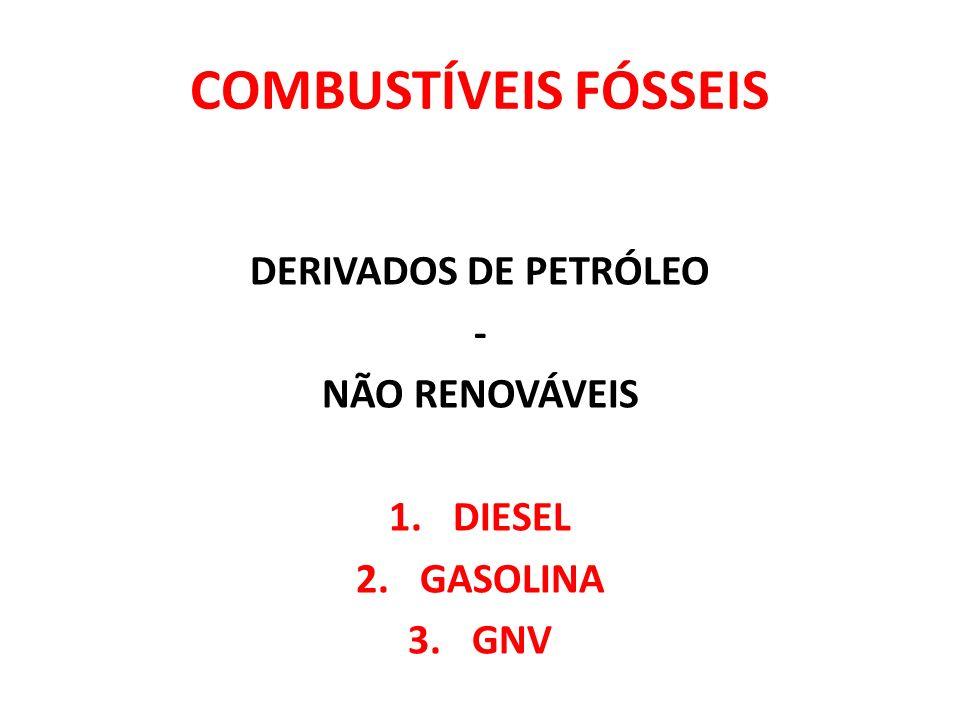 COMBUSTÍVEIS FÓSSEIS DERIVADOS DE PETRÓLEO - NÃO RENOVÁVEIS DIESEL
