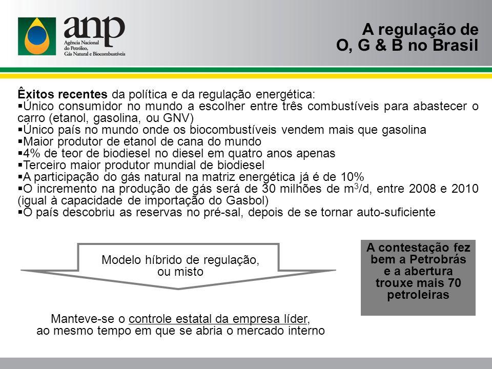 A regulação de O, G & B no Brasil