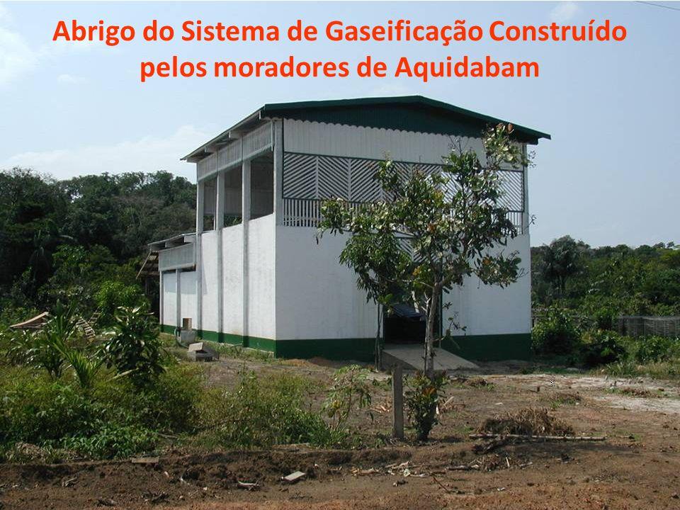 Abrigo do Sistema de Gaseificação Construído pelos moradores de Aquidabam