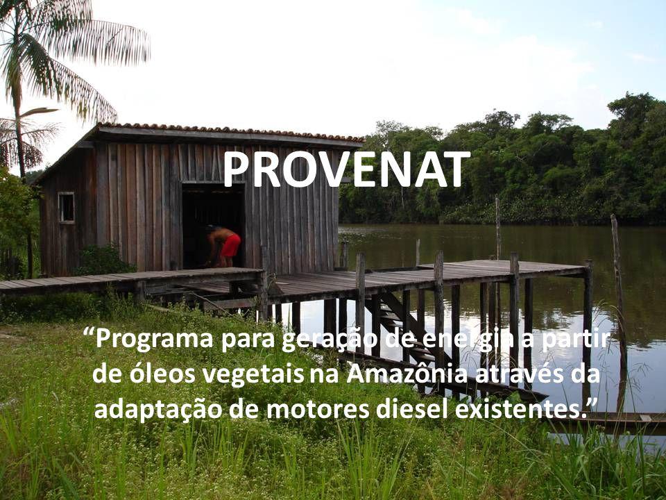PROVENAT Programa para geração de energia a partir de óleos vegetais na Amazônia através da adaptação de motores diesel existentes.