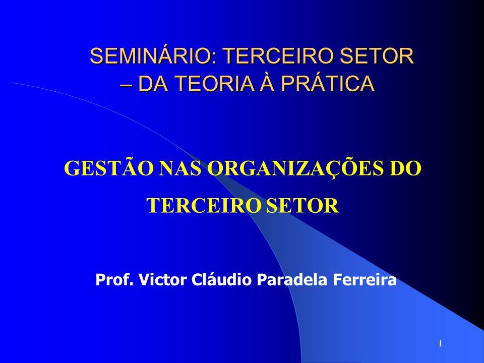 SEMINÁRIO: TERCEIRO SETOR – DA TEORIA À PRÁTICA