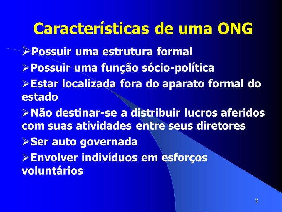 Características de uma ONG