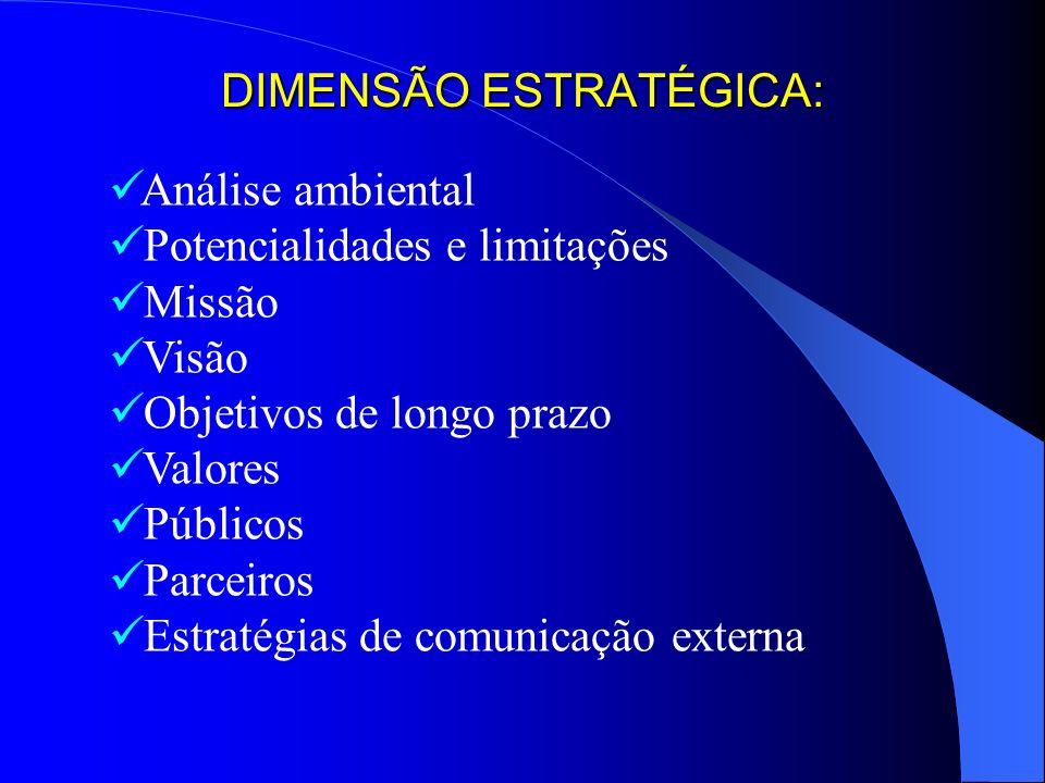 DIMENSÃO ESTRATÉGICA: