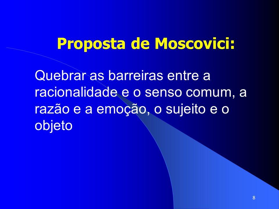 Proposta de Moscovici: