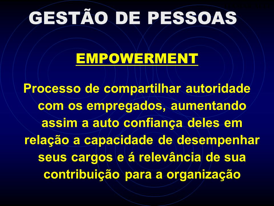 GESTÃO DE PESSOAS EMPOWERMENT