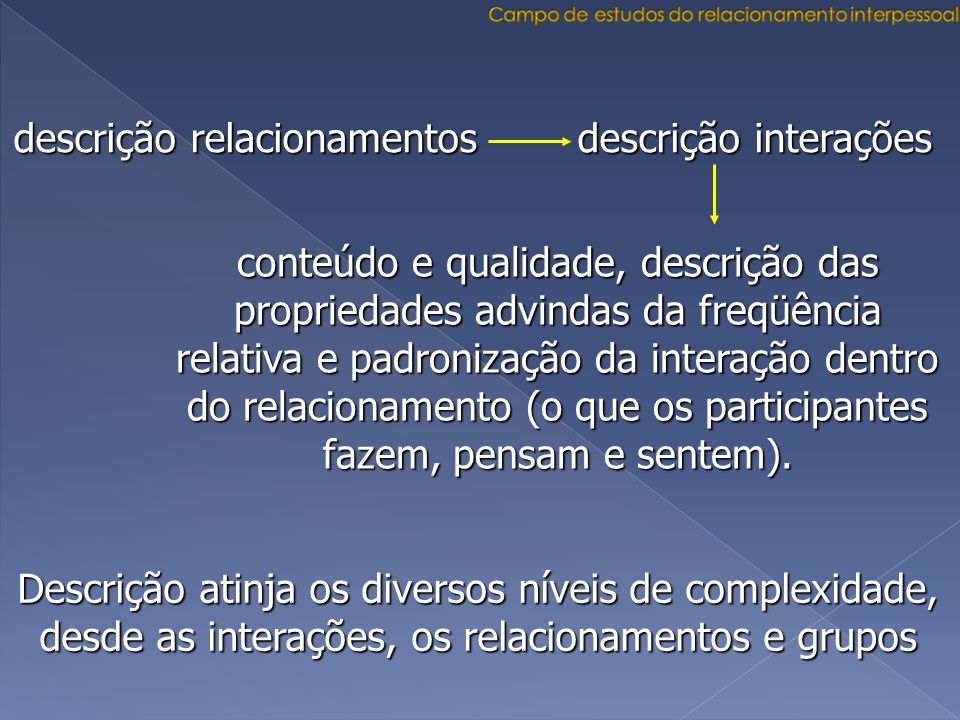 Campo de estudos do relacionamento interpessoal