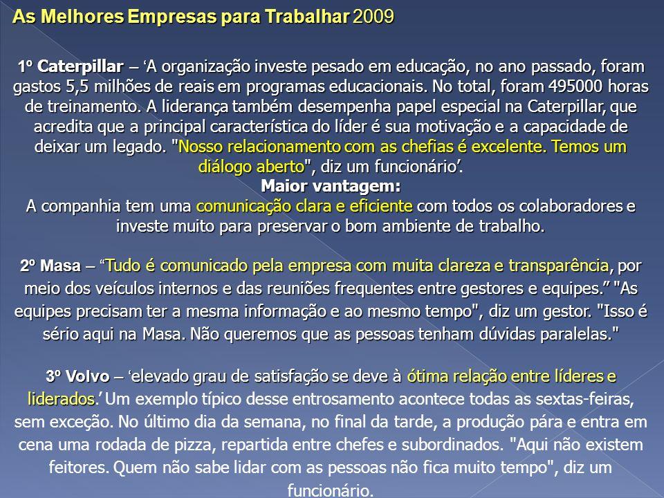 As Melhores Empresas para Trabalhar 2009