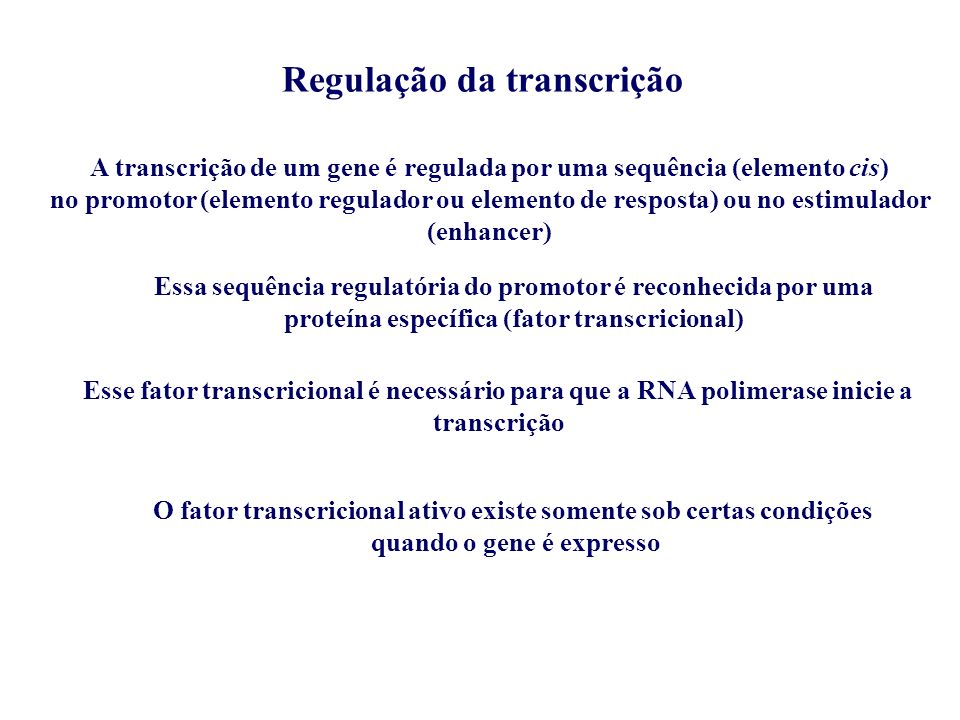 Regulação da transcrição