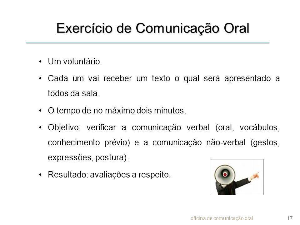 Exercício de Comunicação Oral