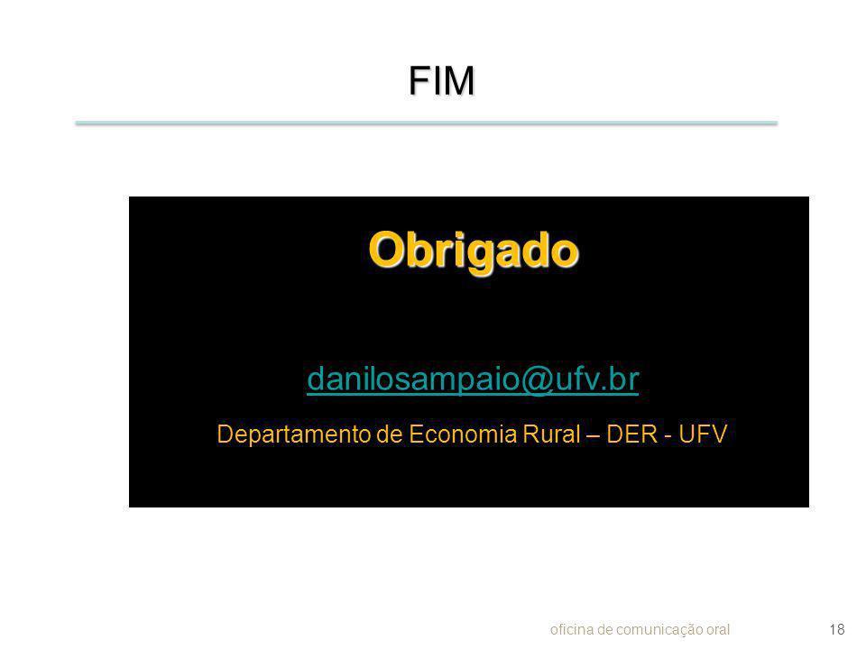 Departamento de Economia Rural – DER - UFV