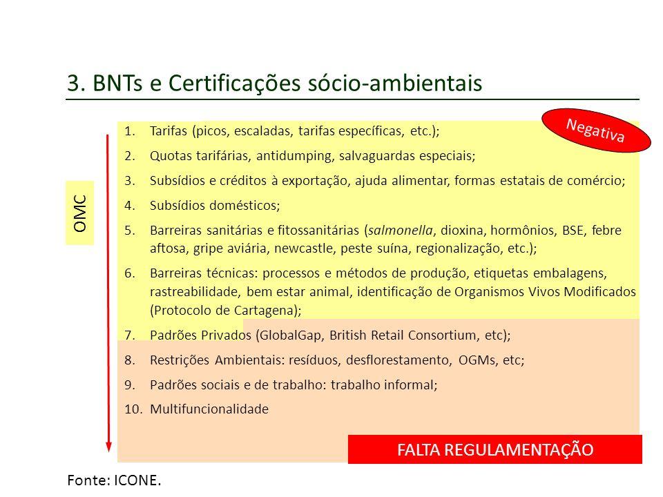 3. BNTs e Certificações sócio-ambientais