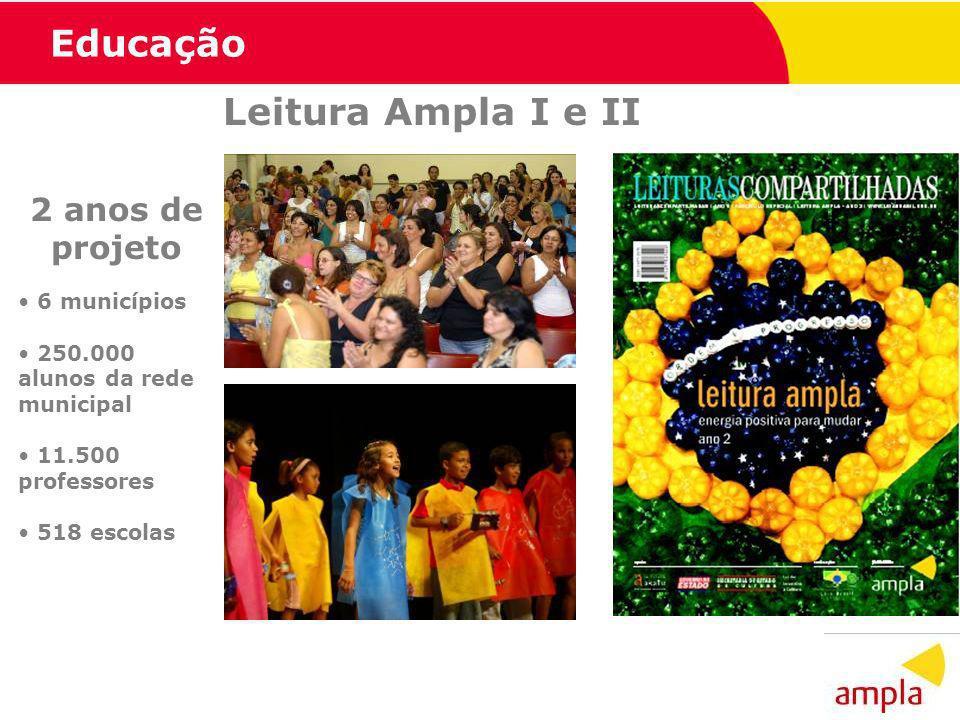 Educação Leitura Ampla I e II 2 anos de projeto 6 municípios