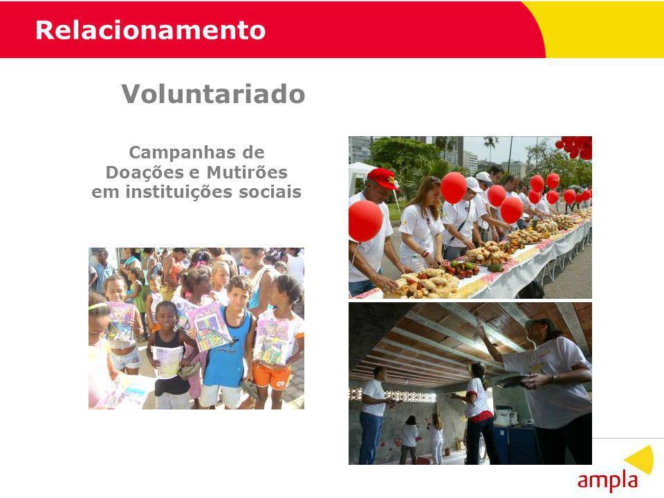 Campanhas de Doações e Mutirões em instituições sociais