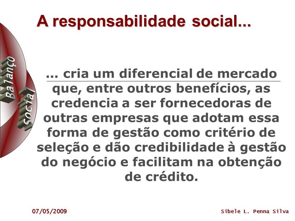 A responsabilidade social...