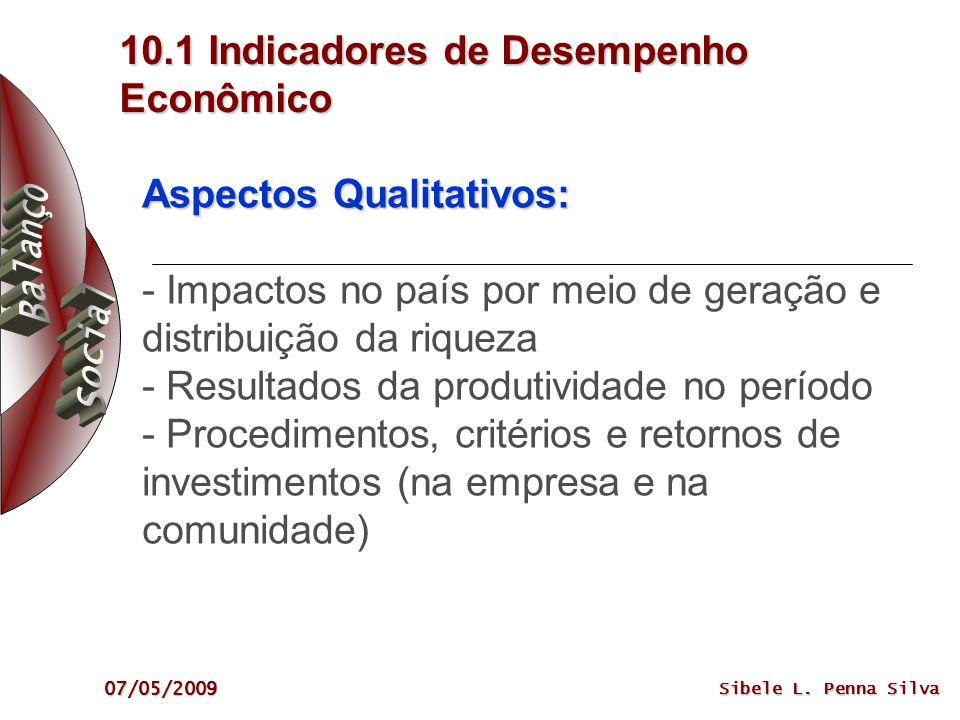 10.1 Indicadores de Desempenho Econômico
