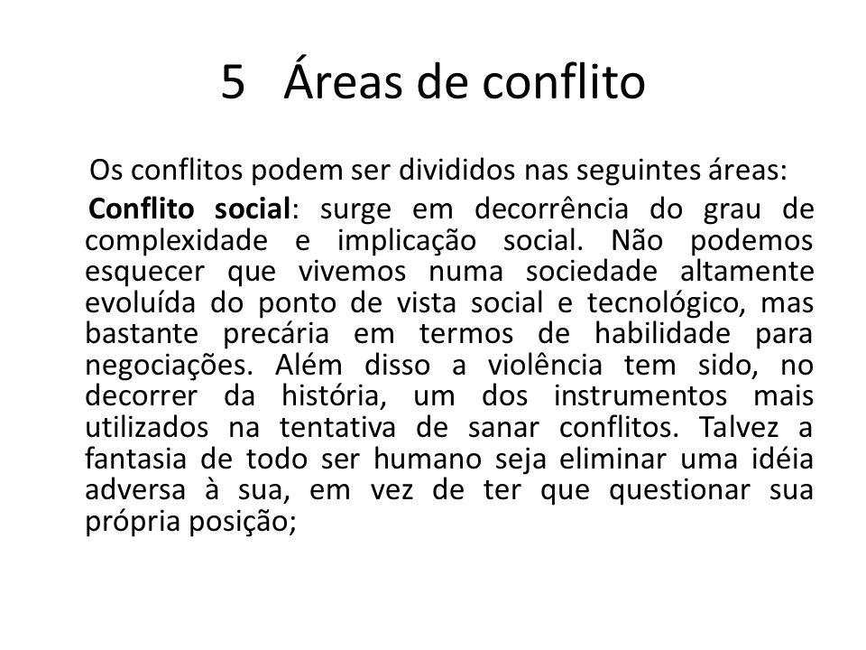 5 Áreas de conflito
