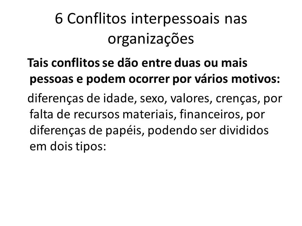 6 Conflitos interpessoais nas organizações