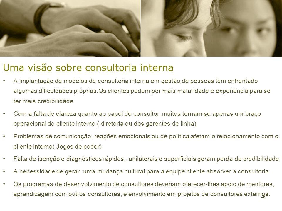 Uma visão sobre consultoria interna
