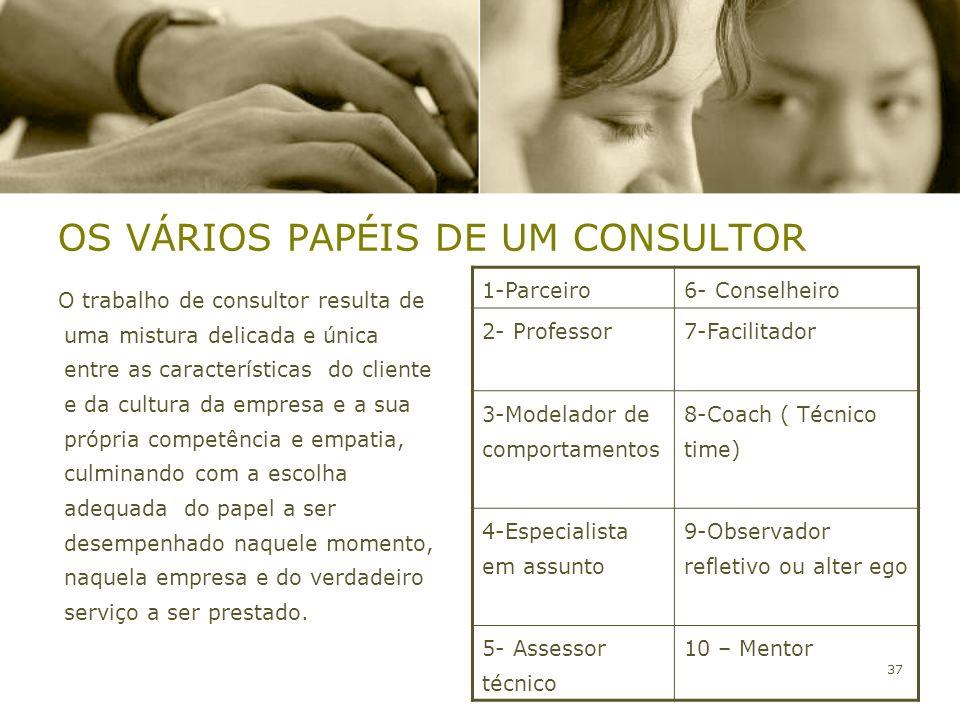 OS VÁRIOS PAPÉIS DE UM CONSULTOR
