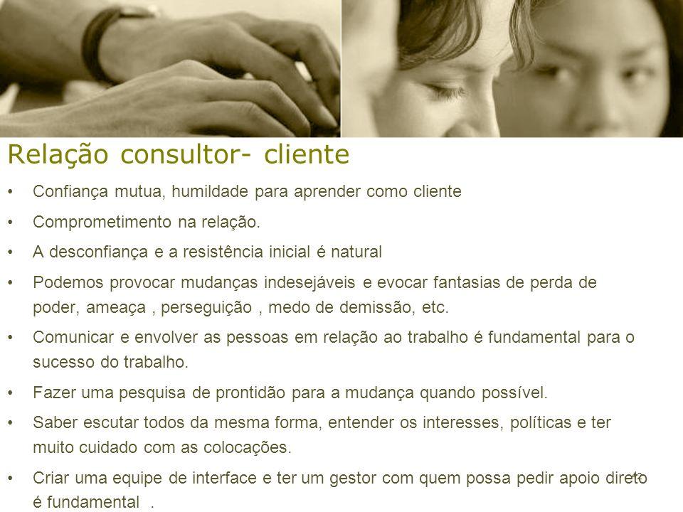 Relação consultor- cliente