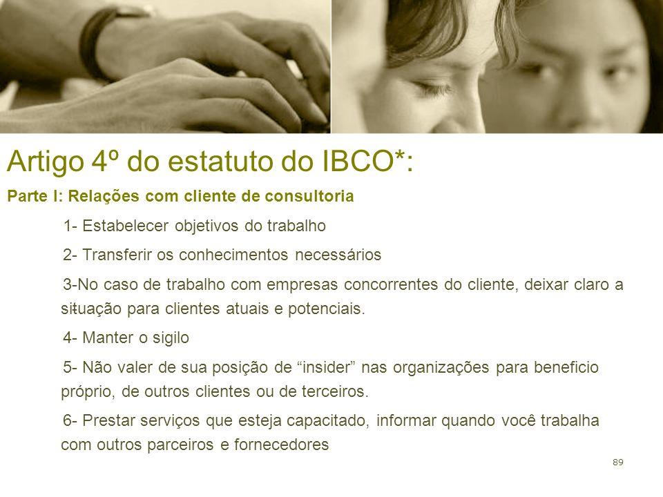 Artigo 4º do estatuto do IBCO*: