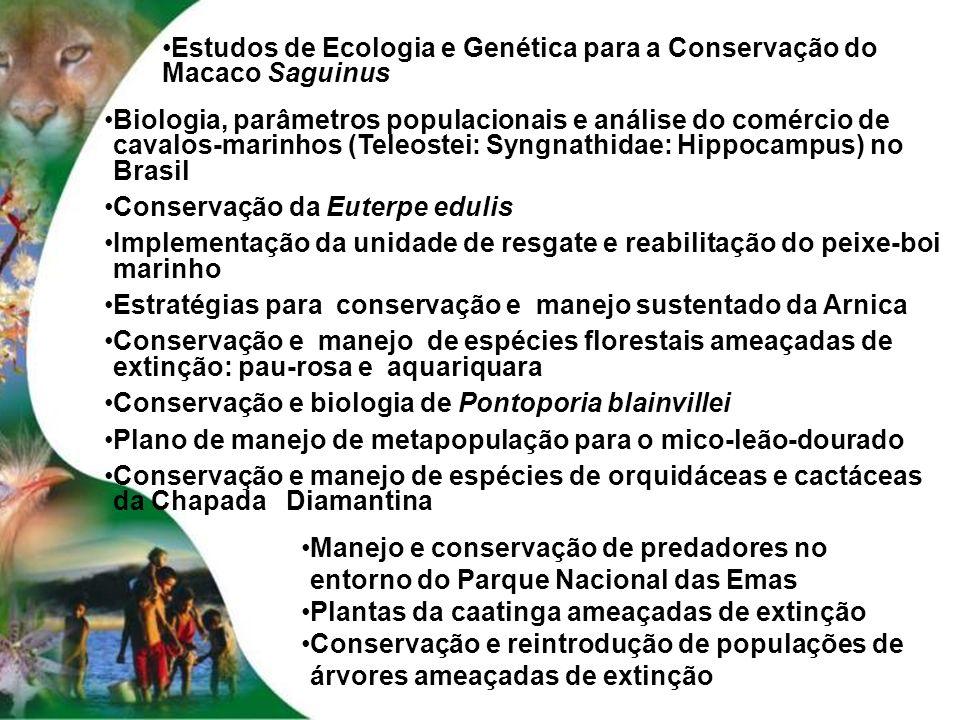 Estudos de Ecologia e Genética para a Conservação do Macaco Saguinus
