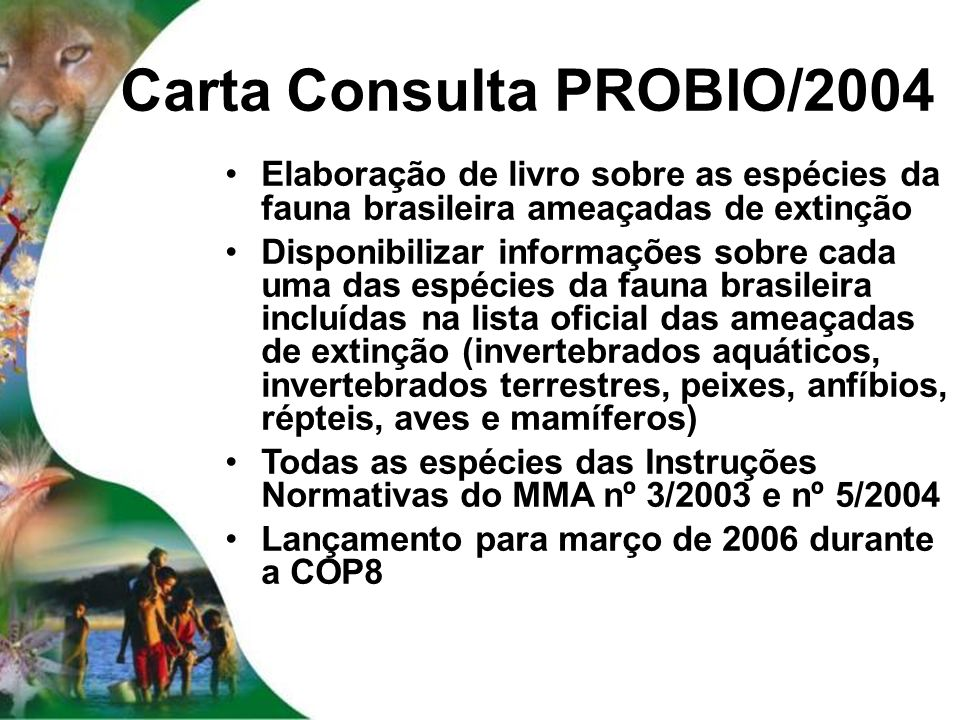 Carta Consulta PROBIO/2004
