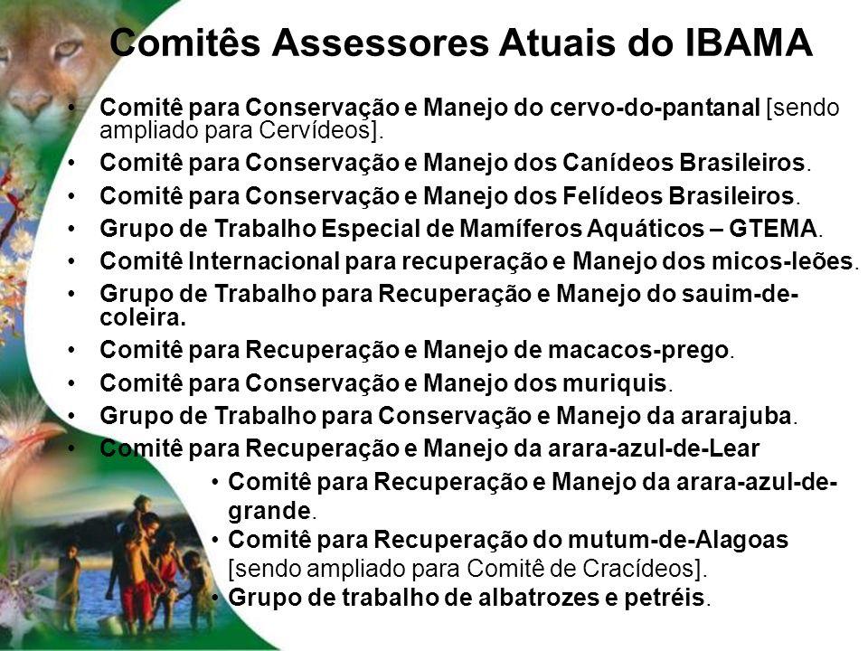 Comitês Assessores Atuais do IBAMA