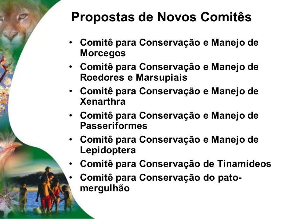 Propostas de Novos Comitês