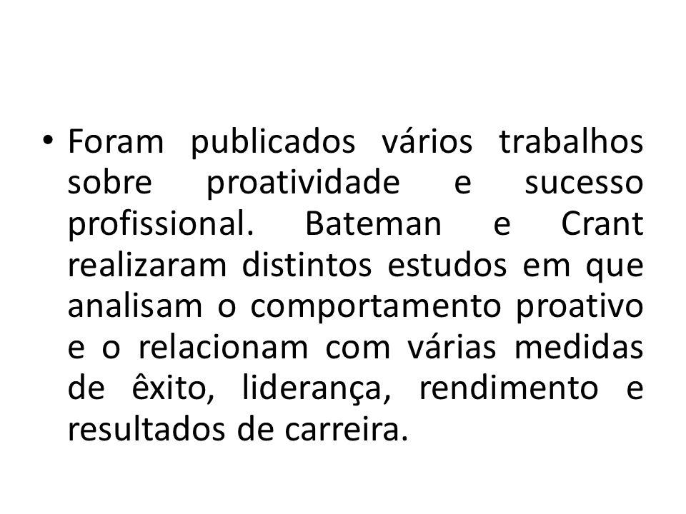 Foram publicados vários trabalhos sobre proatividade e sucesso profissional.