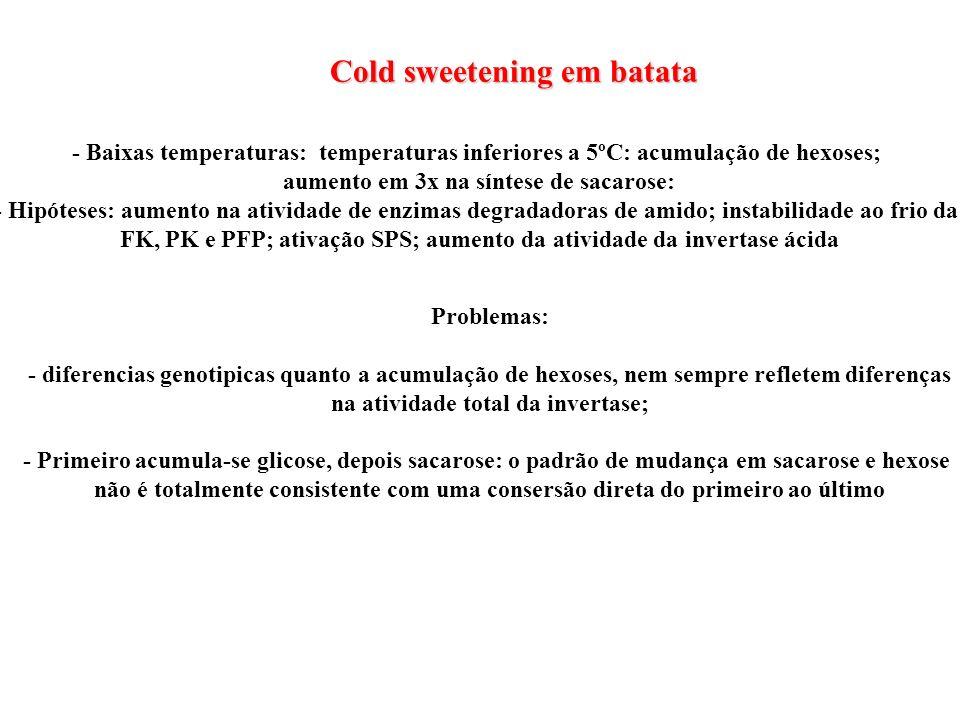 Cold sweetening em batata