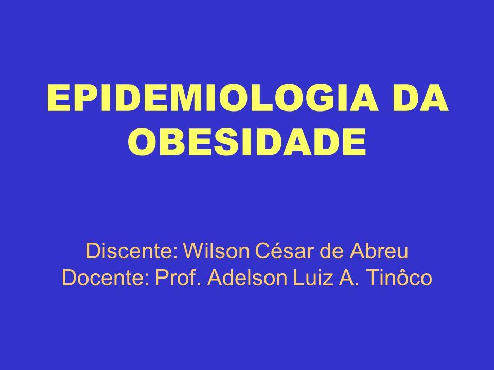 EPIDEMIOLOGIA DA OBESIDADE Discente: Wilson César de Abreu Docente: Prof. Adelson Luiz A. Tinôco
