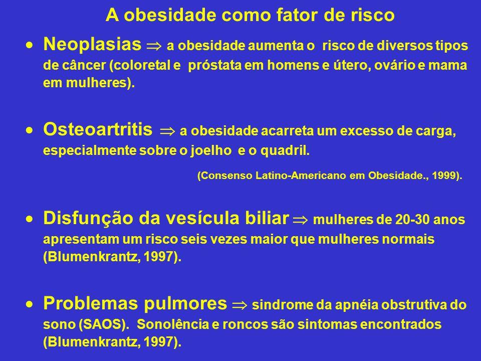 A obesidade como fator de risco