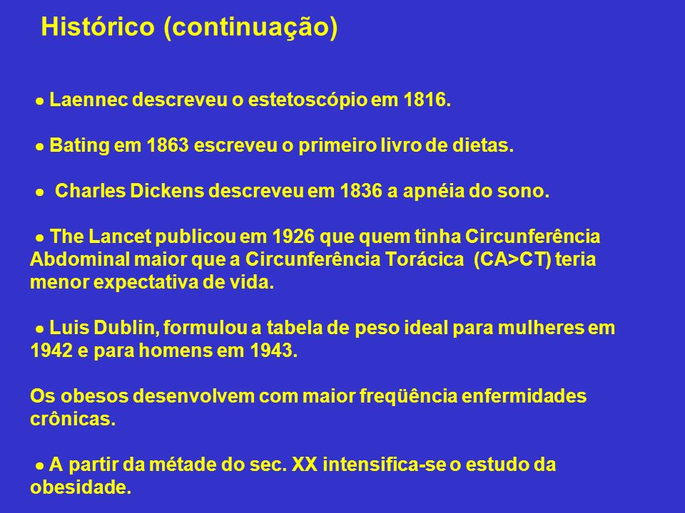 Histórico (continuação)  Laennec descreveu o estetoscópio em 1816