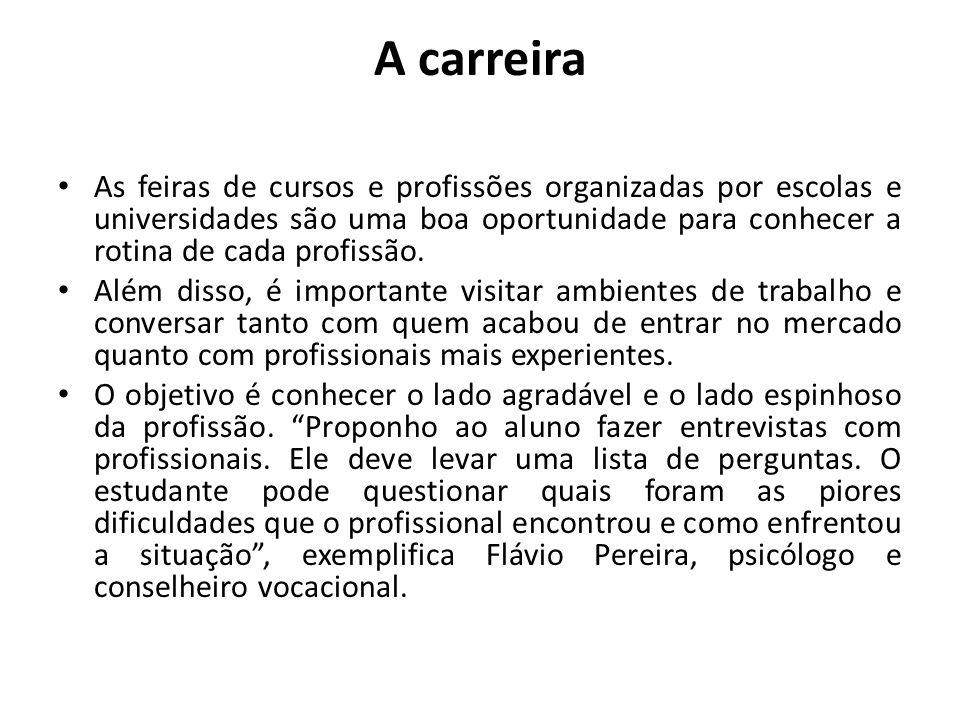 A carreira