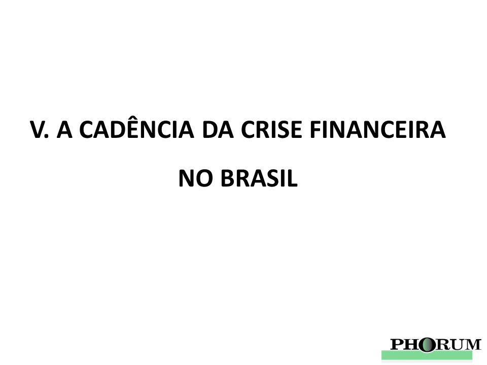 V. A CADÊNCIA DA CRISE FINANCEIRA NO BRASIL