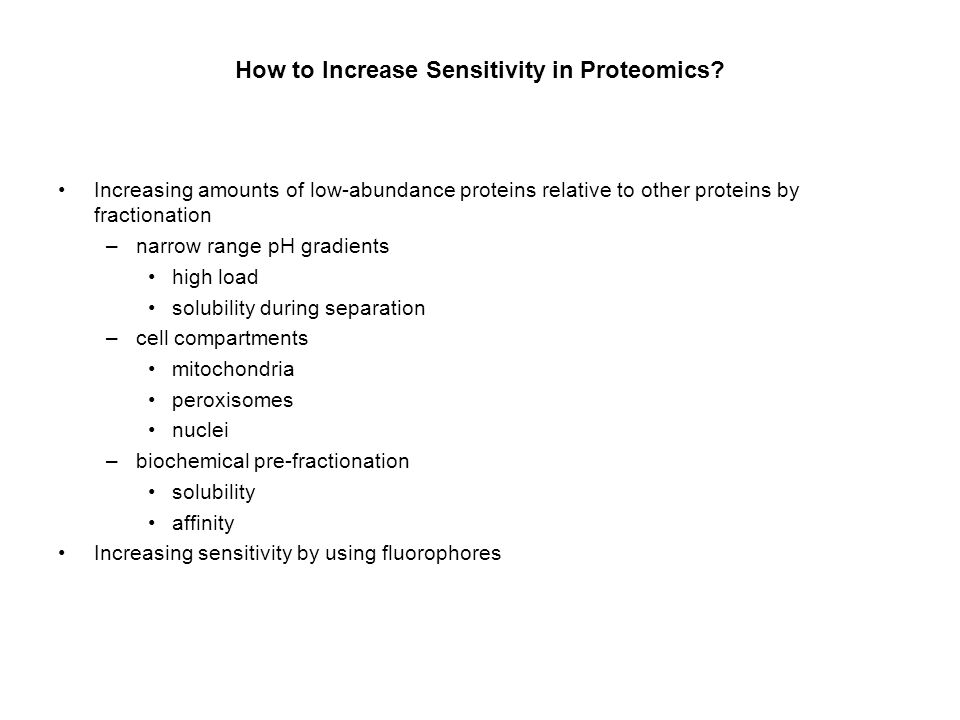 How to Increase Sensitivity in Proteomics
