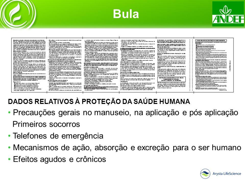 Bula Precauções gerais no manuseio, na aplicação e pós aplicação