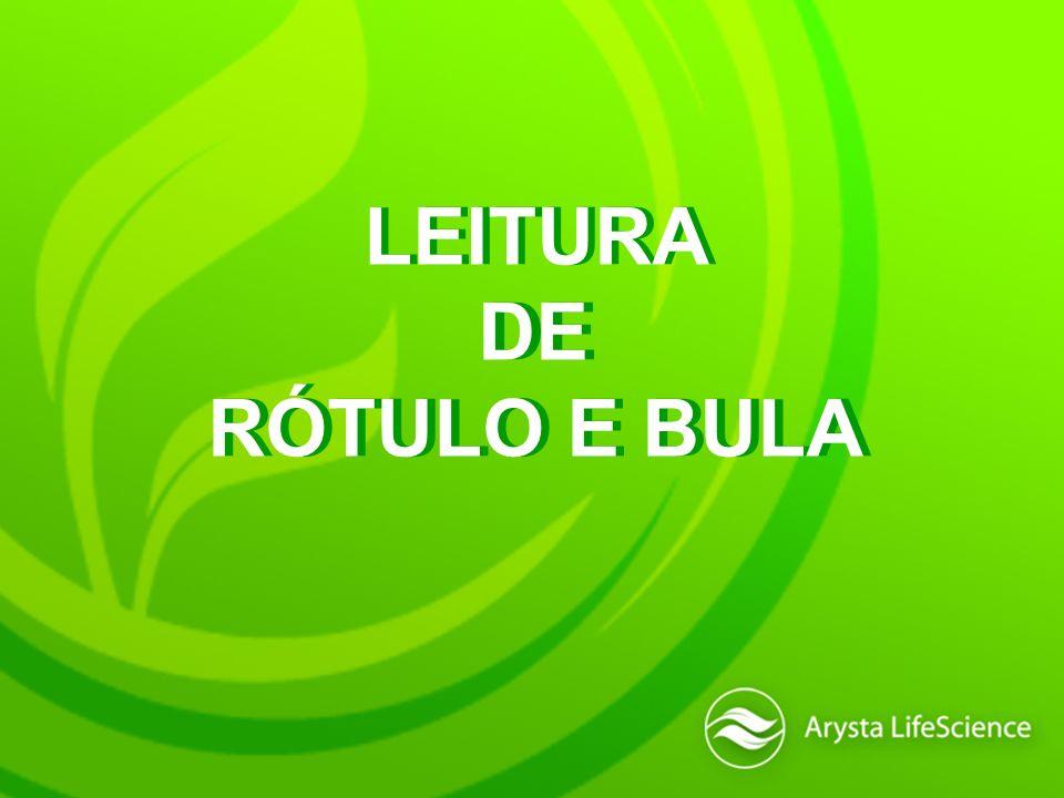 LEITURA DE RÓTULO E BULA