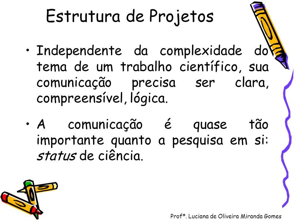 Profª. Luciana de Oliveira Miranda Gomes